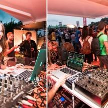 Pinchando en el BBK Live 2015 ( carpa Euskaltel + Gaztea )